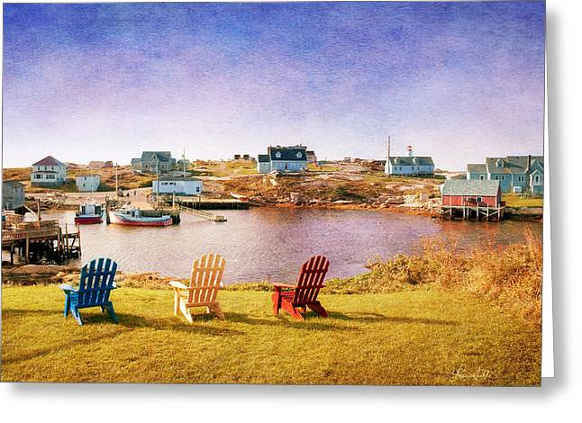 Primary Chairs - Digital Art Greeting Card by Renee Sullivan