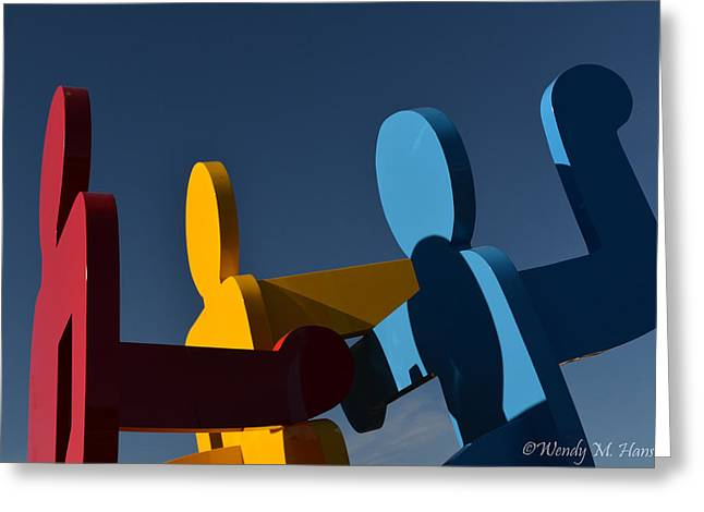 Primary Colors Greeting Card by Wendy Hansen-Penman