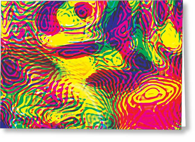 Primary Ripples Hot Greeting Card