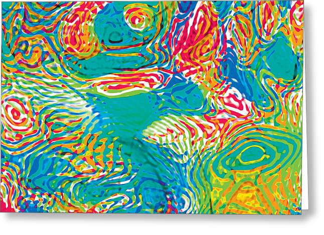 Primary Ripples Tropical Greeting Card