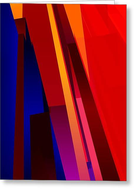Primary Skyscrappers Greeting Card by James Kramer
