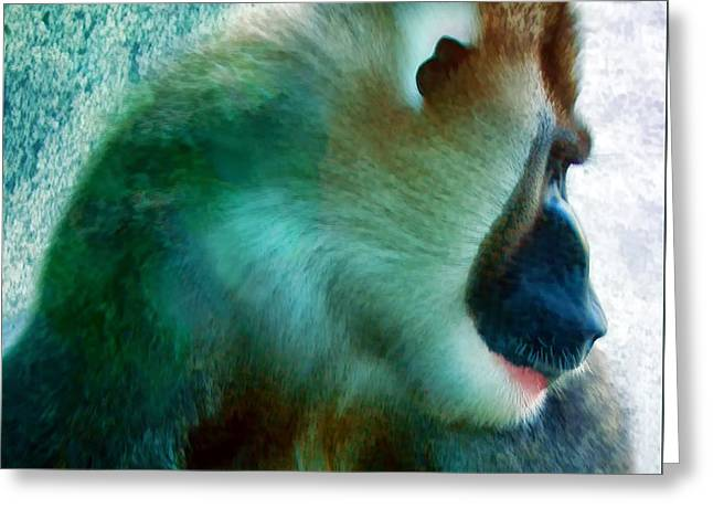 Greeting Card featuring the photograph Primate 1 by Dawn Eshelman
