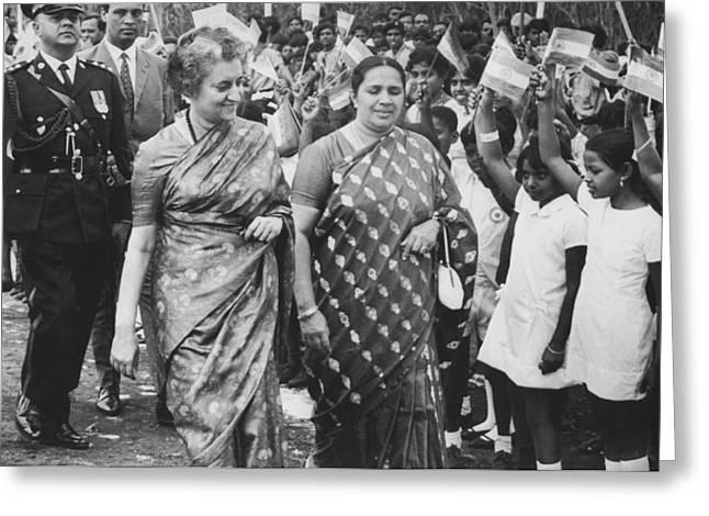Prime Minister Indira Gandhi Greeting Card