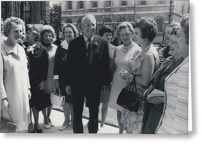 Prime Minister Meets Conservative Women M. P ��s Greeting Card by Retro Images Archive