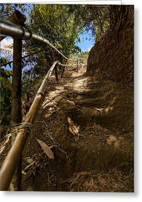 Primitive Stairway Greeting Card by Mario Legaspi