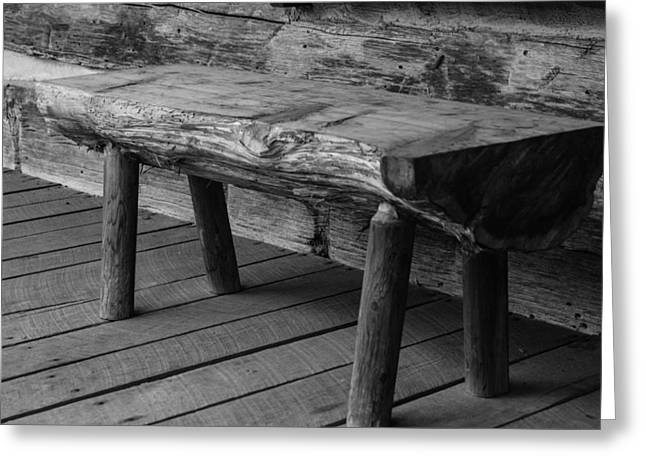Greeting Card featuring the photograph Primitive Wooden Bench by Robert Hebert