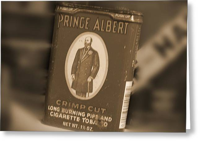 Prince Albert In A Can Greeting Card by Mike McGlothlen