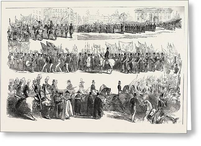 Prince Alberts Visit To Liverpool The Great Procession Greeting Card