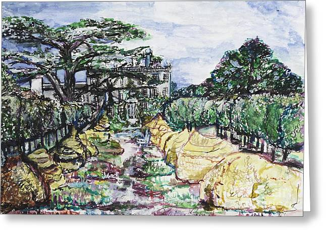 Greeting Card featuring the painting Prince Charles Gardens by Helena Bebirian
