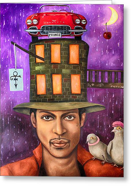 Prince Edit 2 Greeting Card by Leah Saulnier The Painting Maniac