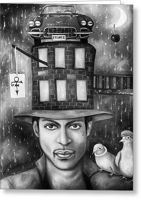 Prince Edit 3 Greeting Card by Leah Saulnier The Painting Maniac