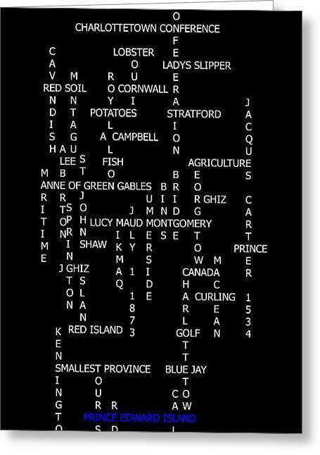 Prince Edward Island Canada Crosswords Greeting Card by Barbara Griffin