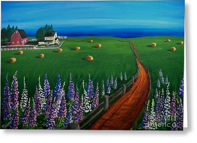 Prince Edward Island Coastal Farm Greeting Card by Patricia L Davidson