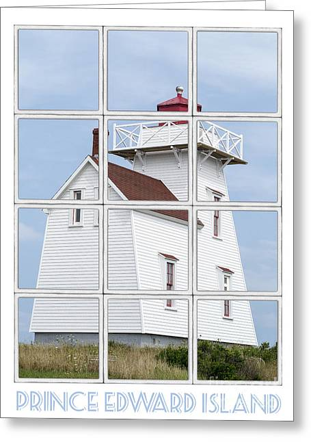 Prince Edward Island Travel Poster Greeting Card