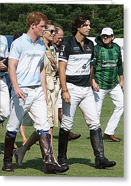 Prince Harry Delfina Belquier Nacho Figueras Greeting Card