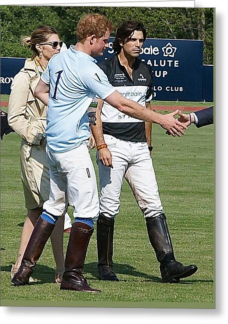 Prince Harry Handshake Greeting Card