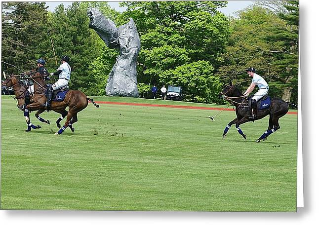 Prince Harry Polo Action Greeting Card