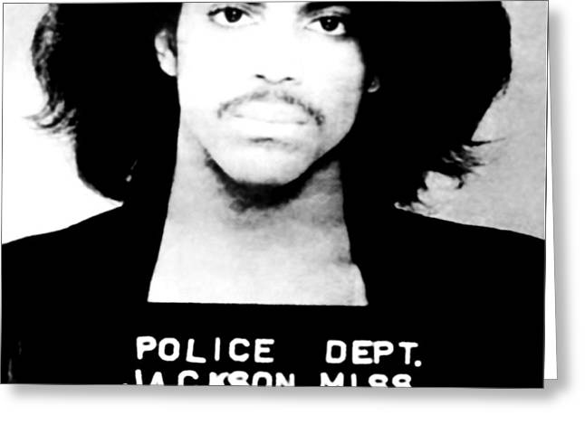 Prince Mugshot Greeting Card