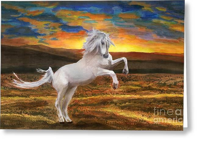 Prince Of The Fiery Plains Greeting Card by Peter Piatt