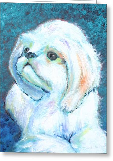 Prince The Little Dog Greeting Card