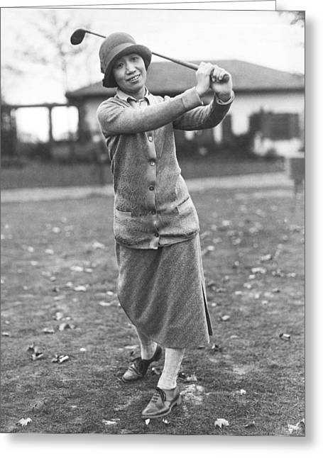 Princess Asaka Golfing Greeting Card by Underwood Archives