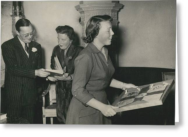 Princess Beatrix Of The Netherlands Receives Her Birthday Greeting Card by Retro Images Archive