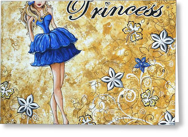 Princess By Madart Greeting Card by Megan Duncanson
