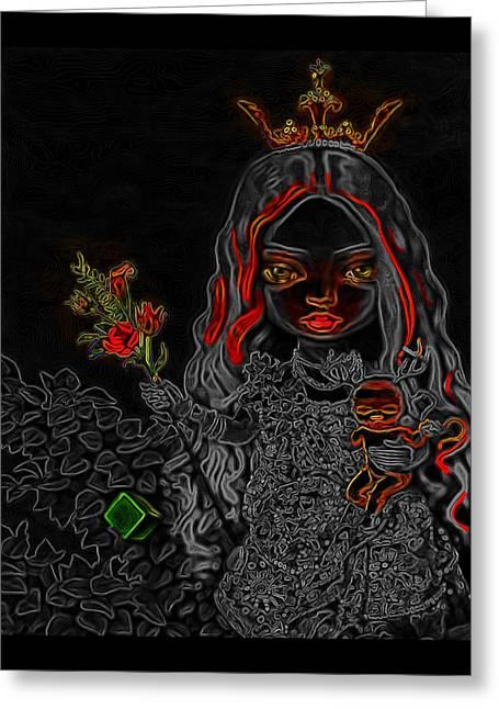 Princess Man Ray Homage Greeting Card by Brian King