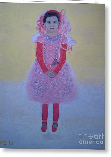 Princess Needs Pink New Hair Greeting Card by Elizabeth Stedman