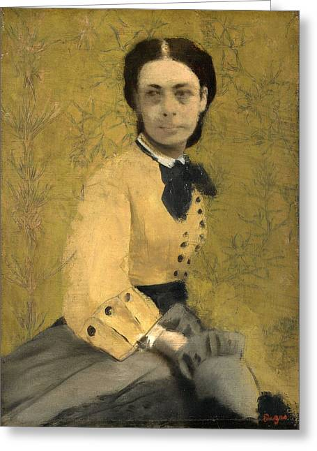 Princess Pauline De Metternich Greeting Card by Edgar Degas