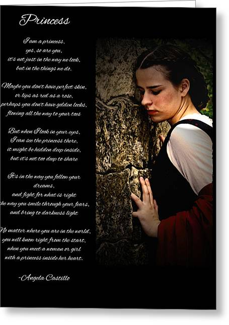 Princess Poem Greeting Card by Cherie Haines
