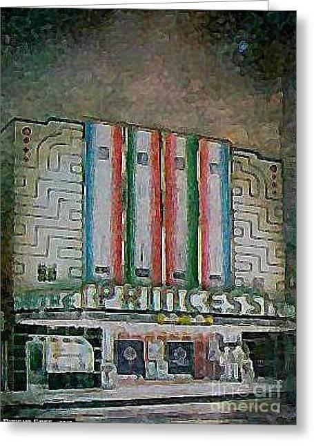 Princess Theatre In Harriman Tn 1939 Greeting Card