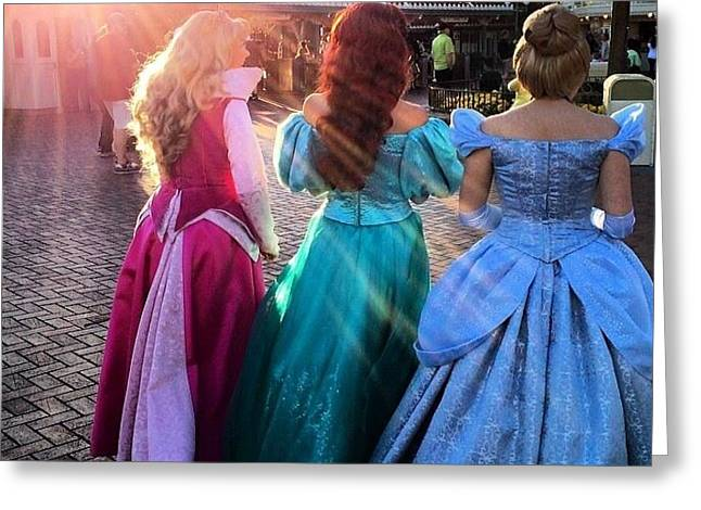 Princess Time In Disneyland Greeting Card by Abby Chavez