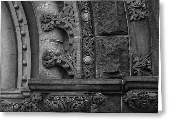 Greeting Card featuring the photograph Princeton Architectural Detail by Glenn DiPaola