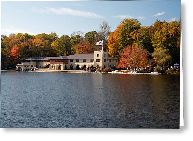 Princeton Crew Boathouse Princeton New Jersey Greeting Card by George Oze