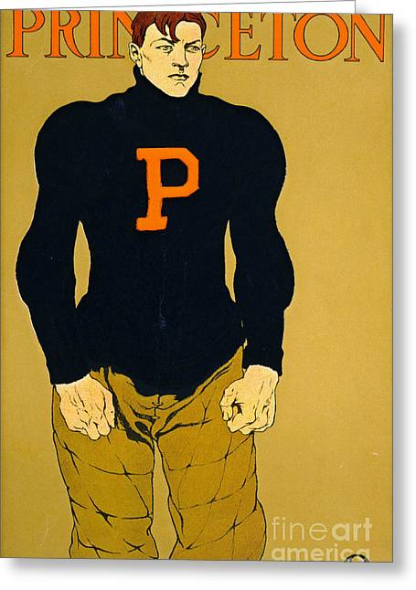 Princeton Football Guard 1907 Greeting Card