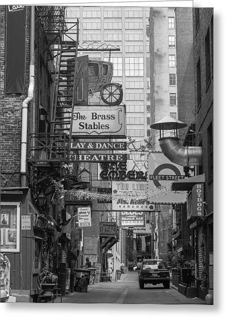 Printers Alley Nashville  Greeting Card