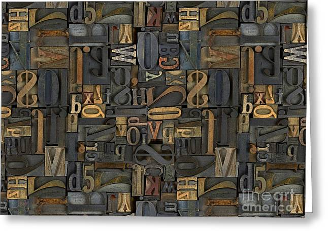 Printing Letters 1 Greeting Card by Peter Awax