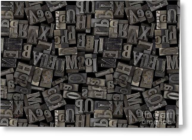 Printing Letters 2 Greeting Card by Bedros Awak