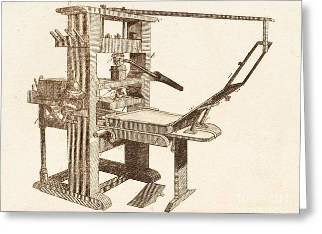 Printing Press Greeting Card