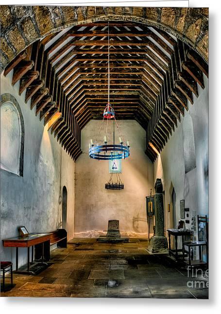 Priory Church Of St Seiriol Greeting Card