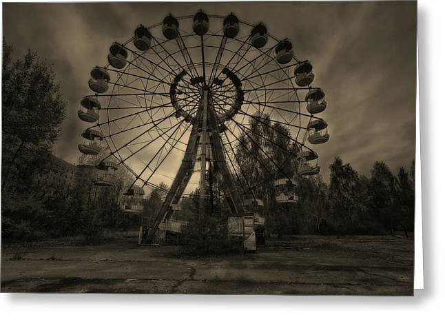 Pripyat Ferris Wheel Greeting Card