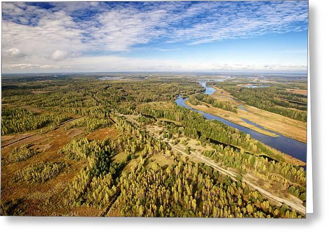 Pripyat River Chernobyl Exclusion Zone Greeting Card
