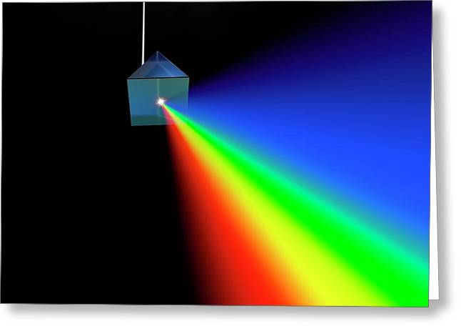 Prism And Spectrum Abstract Greeting Card by David Parker