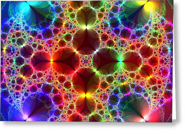 Prism Bubbles Greeting Card by Tammy Wetzel