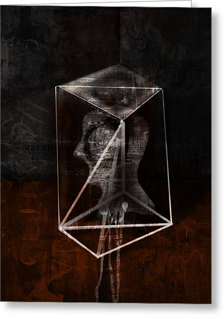 Greeting Card featuring the mixed media Prism by Kim Gauge