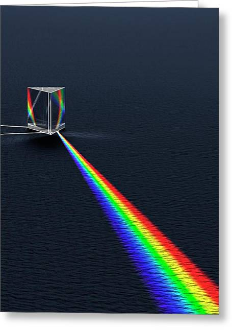 Prism Refracting Visible Light Spectrum Greeting Card