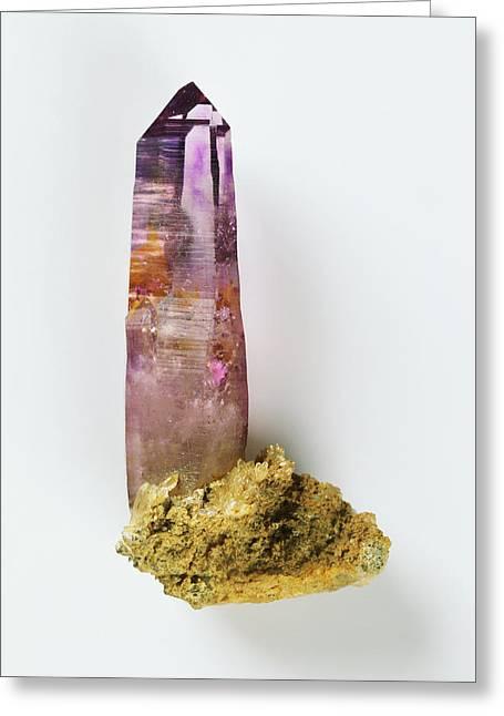 Prismatic Amethyst Crystal Greeting Card