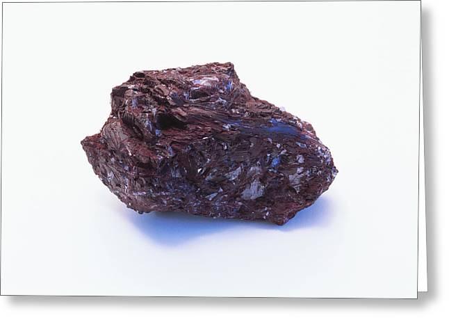Prismatic Piemontite Crystals Greeting Card