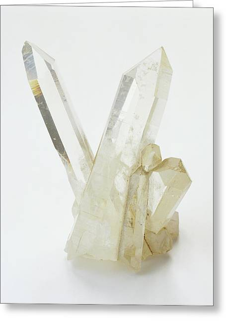 Prismatic Rock Crystals Greeting Card